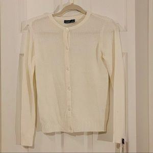 Chaps white cardigan sweater size large